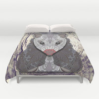 Ornate Opossum Duvet Cover by ArtLovePassion
