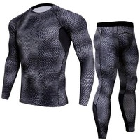 Compression Set Men Running Clothes Long Sleeves Shirts Leggings Sports Suits Jogging Suit Men Gym Fitness Sportswear Run Tights