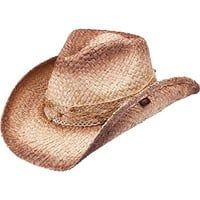 Peter Grimm Ltd Women's Blossom Lace Band Straw Cowgirl Hat Brown One Size