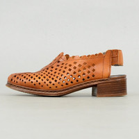 90's Perforated LEATHER Sling-Backs US 6