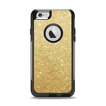 The Gold Glitter Ultra Metallic Apple iPhone 6 Otterbox Commuter Case Skin Set