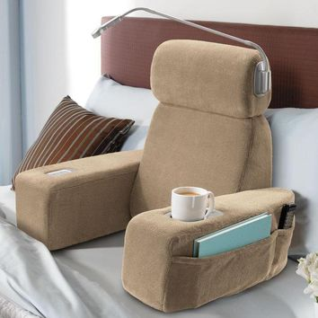 Massaging Sit-Up Pillow with Arms at Brookstone