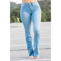 Jordyn light Wash Jeans-boot cut
