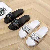 Gucci fashion slippers with soft bottom, shower, non-slip, slippers for lovers, both for men and women
