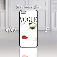 Vogue-1950, Design For iPhone 4/4s Case or iPhone 5 Case - Black or White (Option)