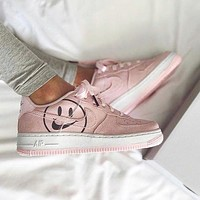 Nike Wmns Air Force 1 Lv8 2 Gs Smiley face shoes