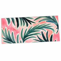 "Crystal Walen ""Lush Palm Leaves "" Green Pink Desk Mat"
