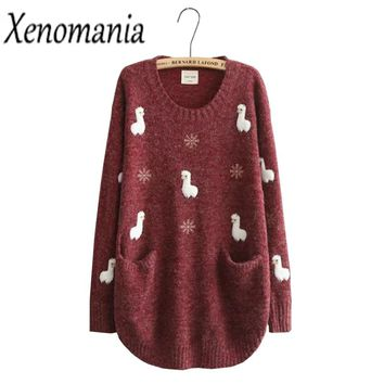 Warm/&Q90 Tree Rex Toddler Childrens Printed Crew Neck Sweater Long Sleeve Cute Knitted Sweater Jumper