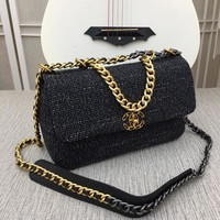 CHANL Women Fashion GOLD and SILVER double CC on Chain cross body Chane vintage Chan jumbo Shopping Leather Satchel Shoulder Bag Handbag Crossbody Discount Bags Top Quality