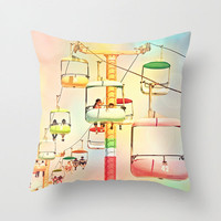 Carnival Photography Room Decor. Throw Pillow. Pastel Colors. Children's Room Decor. Home. Pink. Nursery. Whimsical. Colorful. Dreamy. girly