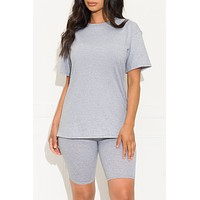 Chill Out Set Round Neck Grey