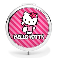 High quality hello Kitty Girls Women's Cartoon Cosmetic Makeup Compact Mirror Travel Portable roundness mini  Pocket Mirror