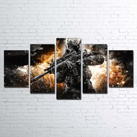 Call Of Duty Black Action Print Wall Art on Canvas Panel Print Framed UNframed