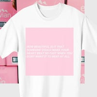 baby pink love tshirt heart cute cyberpunk japanese tumblr style from DOES IT EVEN MATTER
