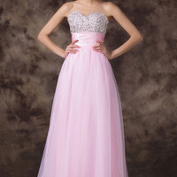 Off Shoulder Beaded Long Evening Gown