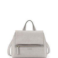Pandora Pure Small Leather Satchel Bag, Pearl Gray - Givenchy