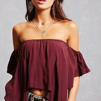 Handkerchief Hem Crop Top