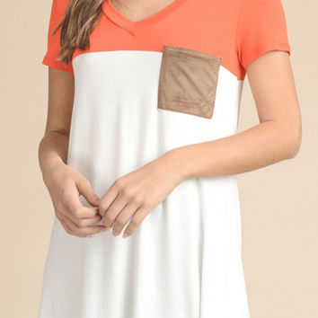Color Block Short Sleeve Top