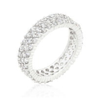 Diana Paved Cluster Eternity Band Ring | 7ct | Cubic Zirconia