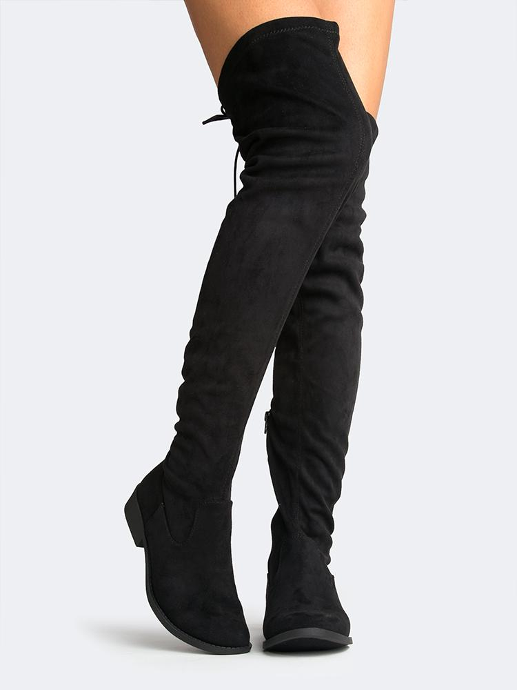Image of Lace Up Knee High Boots