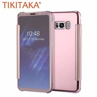 S8 Plus Luxury Plating Mirror Case For Samsung Galaxy S8 S8 Plus Cover Ultra Thin Clear