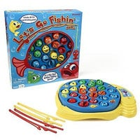Let's Go Fishin' Board Action Game Kids Play Family Night Parents Fishing Catch