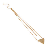 FOREVER 21 Layered Triangle Pendant Necklace