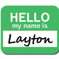 Layton Hello My Name Is Mouse Pad