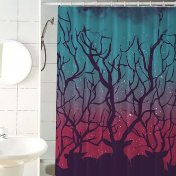 Deer Forest Shower Curtain