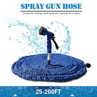 Hot Selling 100FT Expandable Magic Flexible Garden Water Hose For Car Hose Pipe Plastic Hoses To Watering With Spray Gun BLUE