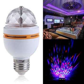 E27 RGB LED Stage Light Lamp Auto Rotating LED Crystal Party Disco Pub Bulb Lamp (Size: 85g, Color: Multicolor) = 1945987652