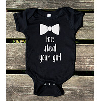 Mr Steal Your Girl Baby Onesuit Funny Boy Clothing