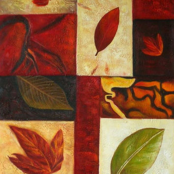 Autumnal Abstract Oil Painting