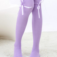 Cotton Over-Knee Length Lolita Stockings Five Color