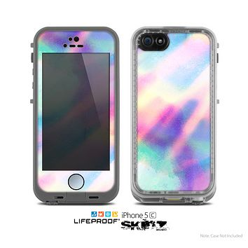 The Tie Dyed Bright  Skin for the Apple iPhone 5c LifeProof Case