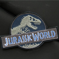 Jurassic World Badge Patch Jurassic Park Embroidered Iron on Patch Sew on Patches Iron on Applique
