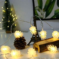 Led Pine Cone Lamp String Battery Small Lanterns Year Christmas Lighting String Lights Wedding Holiday Decoration Lights