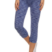 Space Dyed High Waisted Cropped Yoga Leggings