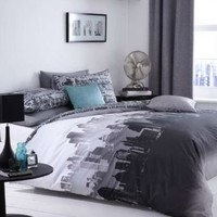 Catherine Lansfield City Scape UK Double/US Full Duvet Cover Set