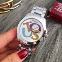 Tous New fashion dial shining letter contrast color women watch