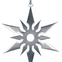 Japanese Ninja Star Pendant - Collectible Medallion Necklace Accessory