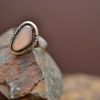 Sterling Silver and Mother of Pearl Native American Ring
