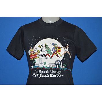80s Honolulu Jingle Bell Run Santa's Sleigh t-shirt Youth Large