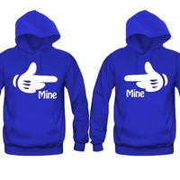 Mine Cartoon Hands Unisex Couple Matching Hoodies