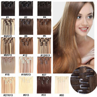 22inch 7pcs/set Heat Resistance  Hair Clip Extensions Life Like