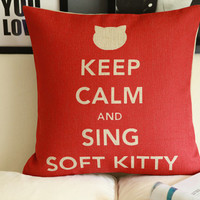 KEEP CALM Art The Big Bang Theory Sheldon pillow cotton and linen cushion pillow cover sofa bedroom sitting room adornment