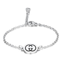 GUCCI New fashion letter print print chain bracelet women