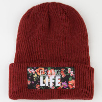 Yea.Nice Nice Life Beanie Maroon One Size For Men 22516232301