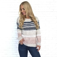 Block Stripe Knit Sweater