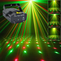 New Mini Portable 110-240V  Red Green Laser Meteor Projector Lights DJ KTV Home Party Dsico Xmas LED Stage Lighting O100B